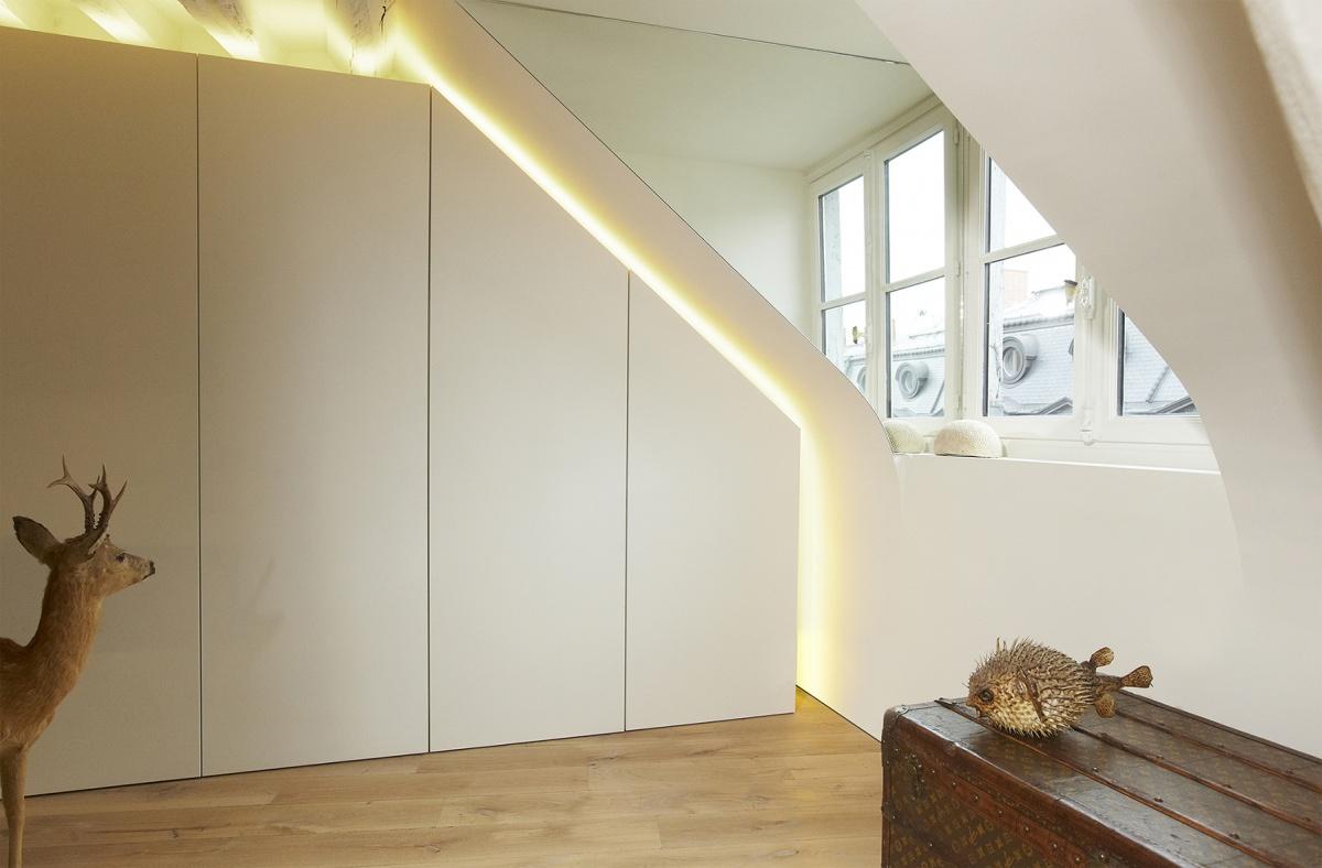 Réhabilitation totale d'un appartement Paris 6 : 4 light