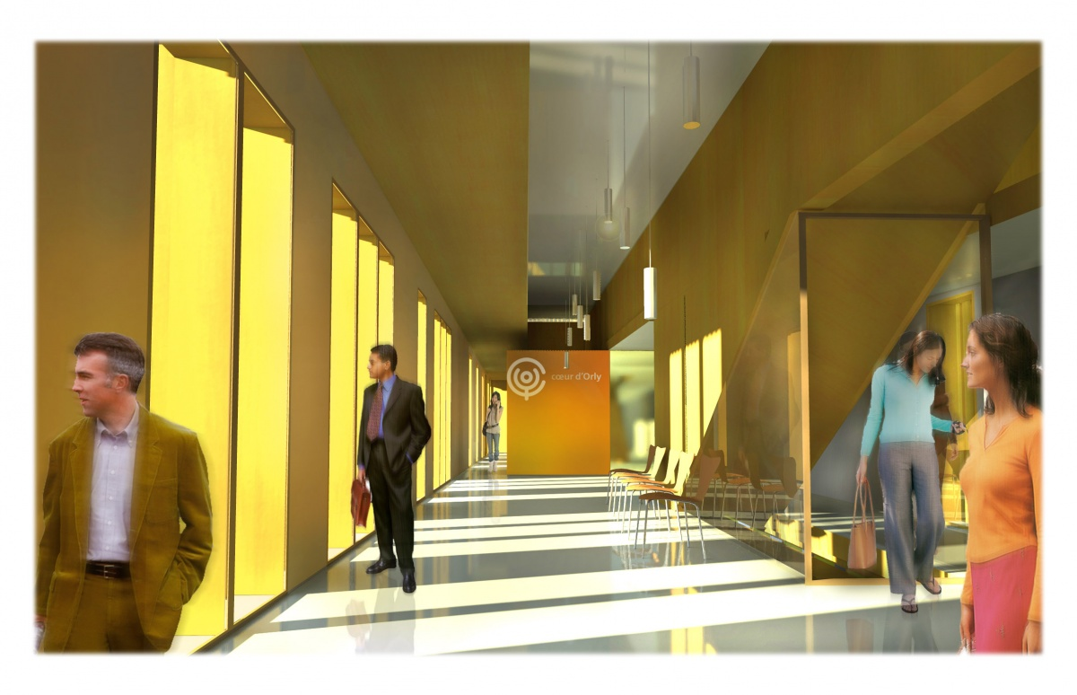 Showroom de vente, eco quartier coeur d'orly : PERS INT contour