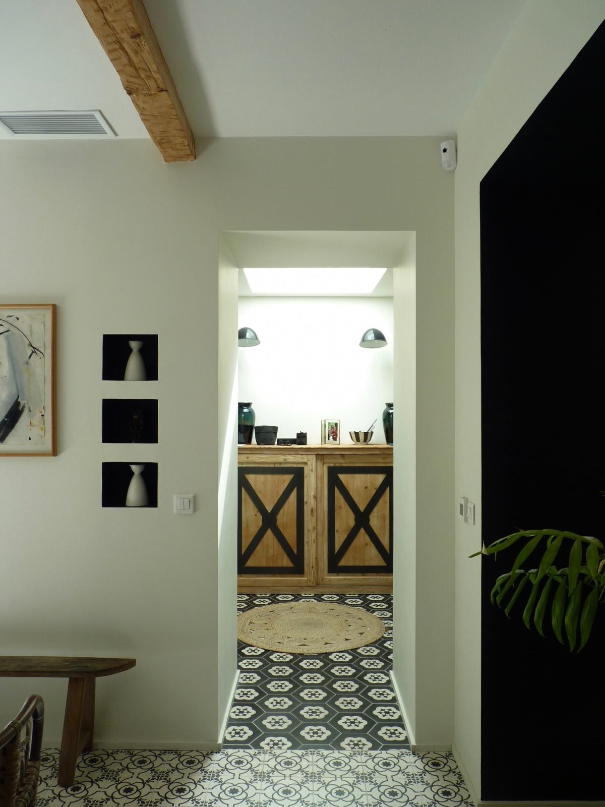 Transformation « deux maisons en une » : hall-entree-deco-architecture-design-azzaro-architecte
