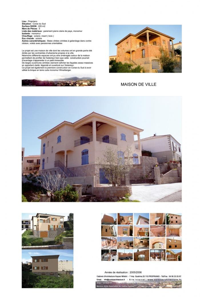 Maison de Ville ecologique en Corse