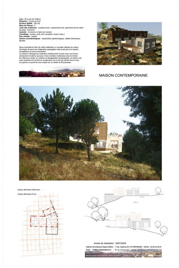 projet d'Architecture conteporaine en Corse