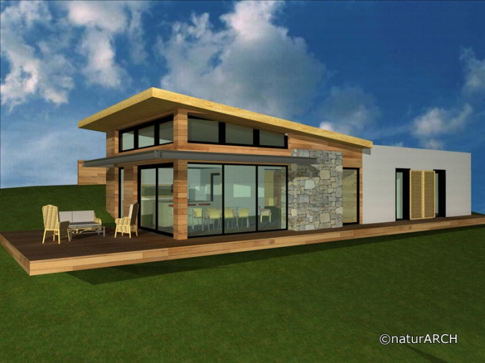 maison bioclimatique pierrevert une r alisation de naturarch. Black Bedroom Furniture Sets. Home Design Ideas