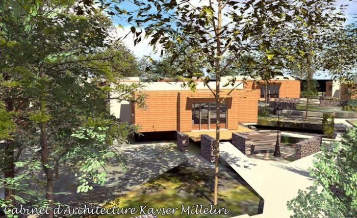 Résidence Contemporaine Bio Climatique Ecologique en Ossature Bois