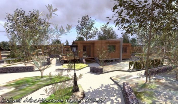 Résidence Contemporaine Bio Climatique Ecologique en Ossature Bois : Infographie 3D