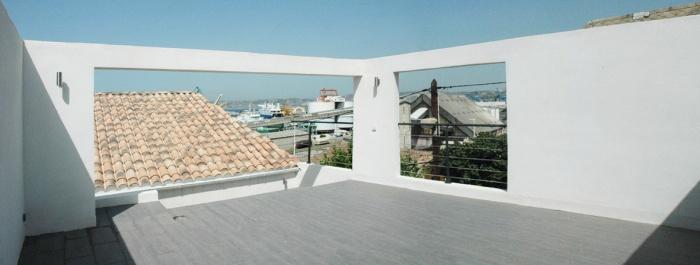 Maison AIR : Vue de la toiture terrasse