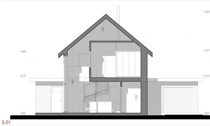 Projet d'une maison individuelle en bois, terre et paille : AE005 - PRO 10 - coupes 01