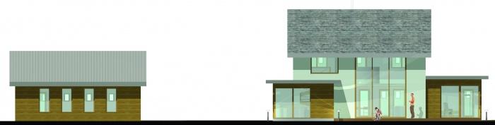 Projet d'une maison individuelle en bois, terre et paille : PCMI6 PHOTOMONTAGE 04