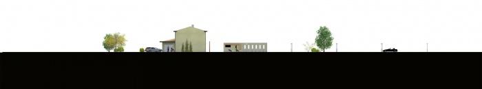Creation d'une villa : FACADE EST