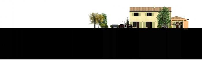 Creation d'une villa : FACADE SUD