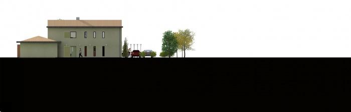 Creation d'une villa : FACADE NORD