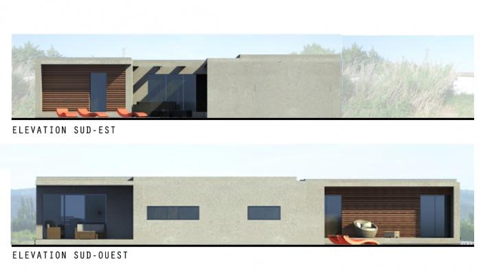 Création d'une Maison Contemporaine : maison-contemoraine-elevations-jeremy-azzaro-architecte-paca
