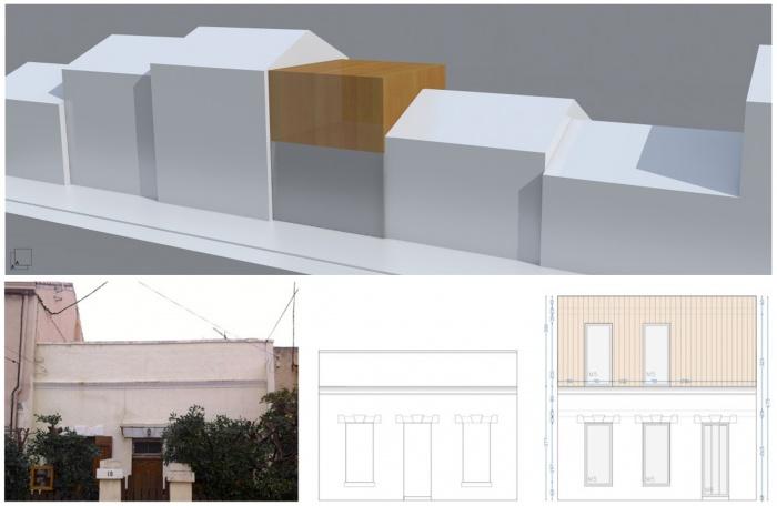sur l vation en ossature bois greffe contemporaine marseille. Black Bedroom Furniture Sets. Home Design Ideas