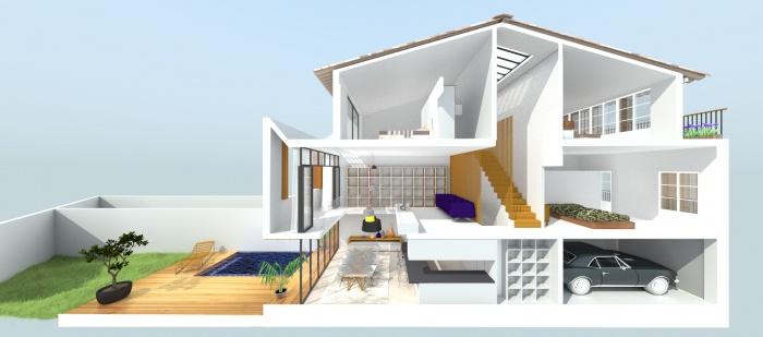 Maison de Village à Cogolin : may_architecture_architecte_rénovation_cogolin-Rialet-02