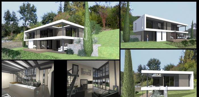 maison contemporaine BIOT