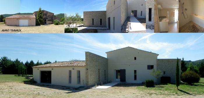 restructuration d'une villa existante