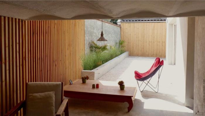 Création d'un Loft « l'Appartement Jardin » : renovation-loft-terrasse-en-ville-marseille-pergola-bois-contemporainre-jeremy-azzaro-architecte