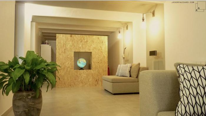 Création d'un Loft « l'Appartement Jardin » : renovation-loft-cave-marseille-voutes-salon-osb-jeremy-azzaro-architecte