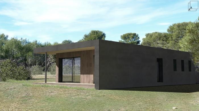 Conception d'une maison contemporaine en bois : villa-contemporaine-bois-architecture-bandeau-provence