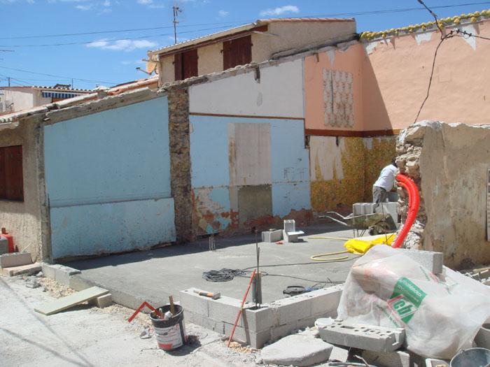 élévation de murs