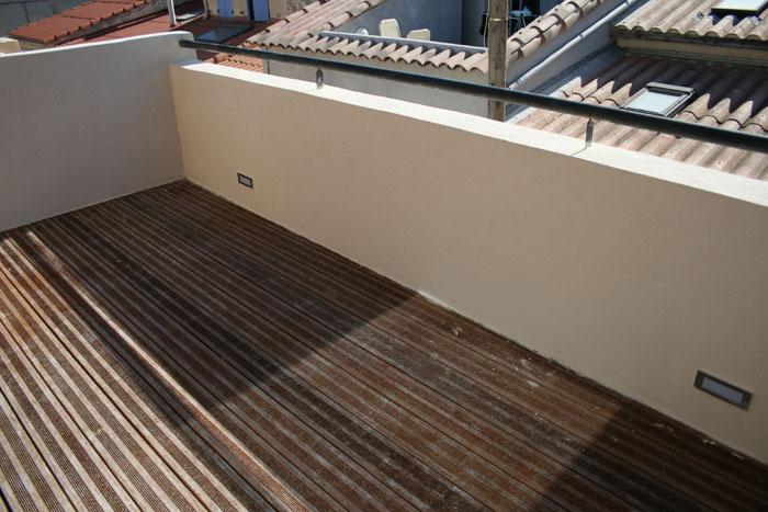 terrasse avec rambarde
