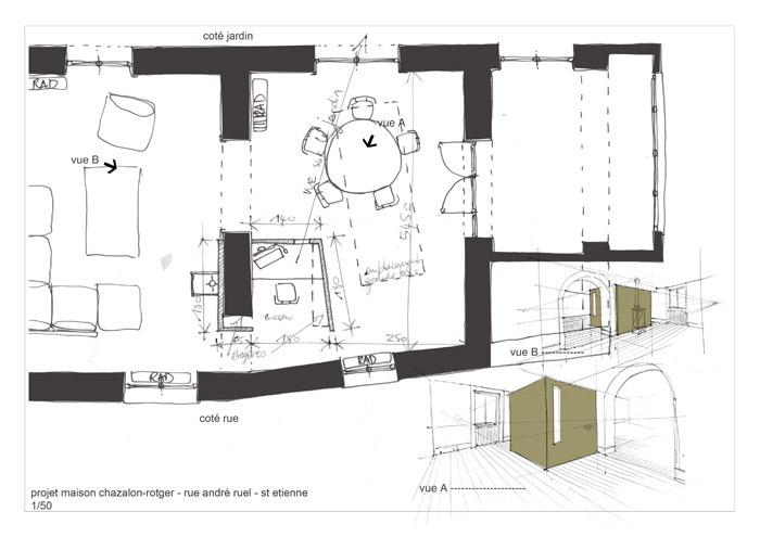 plan bureau, salle à manger